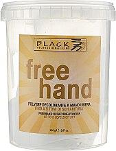 """Парфюми, Парфюмерия, козметика Изсветляваща пудра за коса """"Свободни ръчички"""" - Black Professional Line Bleaching Powder For Free-Hand"""