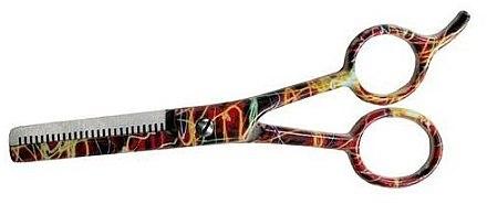 Ножницы филировочные, 5.5см - Ronney Professional Orange Neon — снимка N1