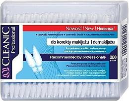 Парфюмерия и Козметика Памучни клечки за почистване на грим, 200 бр. - Cleanic Professional