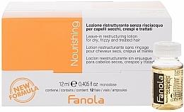Парфюмерия и Козметика Реконструиращи ампули за суха коса - Fanola Leave-In Restructuring Lotion