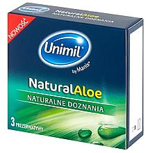Парфюмерия и Козметика Презервативи за жени, 3 бр. - Unimil Natural Aloe