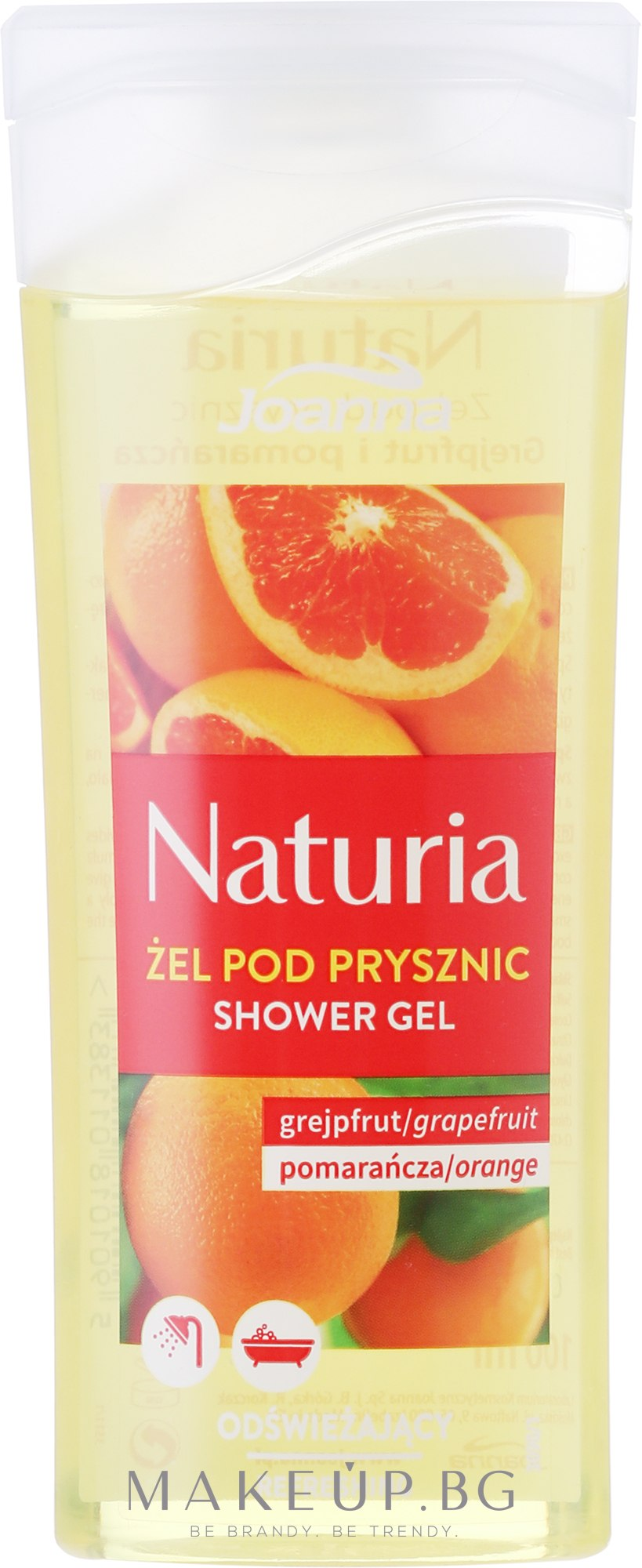 "Душ гел ""Грейпфрут и портокал"" - Joanna Naturia Grapefruit and Orange Shower Gel — снимка 100 ml"