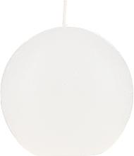 Парфюмерия и Козметика Ароматна кръгла свещ, бяла, 80 мм - Bolsius Ball Candle Rustic