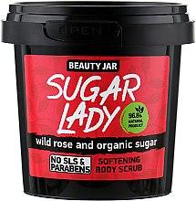 """Парфюмерия и Козметика Омекотяващ скраб за тяло с шипка и органична захар """"Sugar Lady"""" - Beauty Jar Softening Body Scrub"""