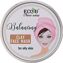 Парфюмерия и Козметика Балансираща глинена маска за мазна кожа - Eco U Balancing Clay Face Mask For Oily Skin