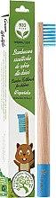 Парфюмерия и Козметика Мека детска бамбукова четка за зъби, светло синя - Biomika Natural Bamboo Toothbrush