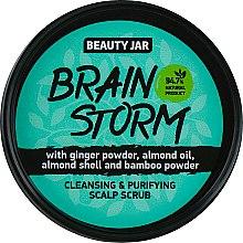 """Парфюмерия и Козметика Почистващ скраб за скалп """"Brain Storm"""" - Beauty Jar Cleansing & Purifying Scalp Scrub"""