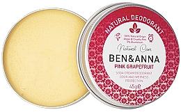 Парфюмерия и Козметика Натурален кремообразен дезодорант - Ben & Anna Pink Grapefruit Soda Cream Deodorant