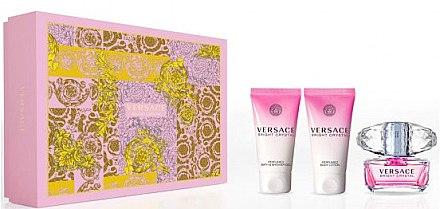 Versace Bright Crystal - Комплект (тоал. вода/50ml + лосион за тяло/50ml + душ гел/50ml) — снимка N1
