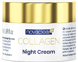 Парфюмерия и Козметика Нощен колагенов крем за лице - Novaclear Collagen Night Cream