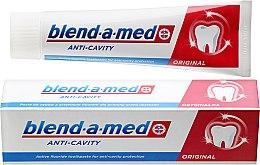 "Парфюмерия и Козметика Паста за зъби ""Анти-кариес"" - Blend-a-med Anti-Cavity Original Toothpaste"