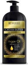 Парфюмерия и Козметика Крем-масло за ръце и тяло 5в1 - Revuele Argan Oil Cream-Butter