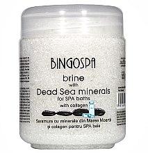 Парфюми, Парфюмерия, козметика Мека сол с минерали от Мъртво море и трансдермален колаген - BingoSpa Brine Of The Dead Sea Minerals With Collagen Transdermal