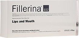 Парфюмерия и Козметика Контуриращ гел за увеличаване на обема на устни, ниво 4 - Fillerina Lips And Mouth Grade 4 Plus