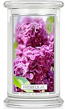 Парфюми, Парфюмерия, козметика Ароматна свещ в бурканче - Kringle Candle Fresh Lilac