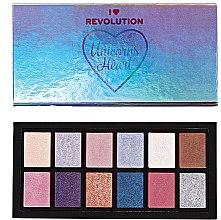 Парфюмерия и Козметика Палитра сенки за очи - I Heart Revolution Unicorns Heart Eyeshadow Palette