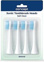 Парфюмерия и Козметика Сменяеми глави за четки за зъби, ZK0002 - Concept Sonic Toothbrush Heads Soft Clean
