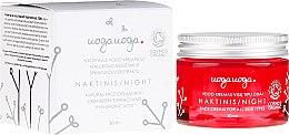 Парфюмерия и Козметика Нощен крем за лице с екстракт от червена боровинка и хиалуронова киселина - Uoga Uoga Hyaluronic Acid Night Cream