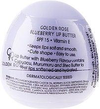 Парфюми, Парфюмерия, козметика Балсам-масло за устни, боровинка - Golden Rose Lip Butter SPF15 Blueberry