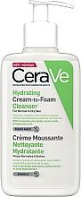 Парфюмерия и Козметика Овлажняваща почистваща крем-пяна за лице - CeraVe Hydrating Cream To Foam Cleanser For Normal To Dry Skin
