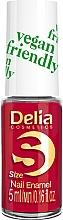 Парфюмерия и Козметика Лак за нокти - Delia Cosmetics S-Size Vegan Friendly Nail Enamel