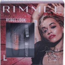 Парфюми, Парфюмерия, козметика Комплект очна линия и спирала (eye/liner/3.5ml + mascara/12ml) - Rimmel Rebel Look