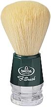 Парфюмерия и Козметика Четка за бръснене, S10018, зелена - Omega