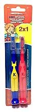 Парфюми, Парфюмерия, козметика Комплект детски четки за зъби, синьо-жълта + червена - Kin Dental Toothbrush Pack