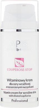 Витаминен крем за чувствителна кожа с разширени капиляри - APIS Professional Couperose-Stop Vitamin Cream — снимка N1