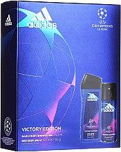 Парфюмерия и Козметика Adidas UEFA Champions League Victory Edition - Комплект (део/150ml+душ гел/250ml)