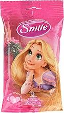 "Парфюми, Парфюмерия, козметика Мокри кърпички ""Принцеси"" 15бр, Рапунцел - Smile Ukraine Princess"