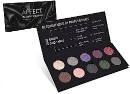 Парфюми, Парфюмерия, козметика Палитра с пресовани сенки за очи - Affect Cosmetics Smoky And Shiny Eyeshadow Palette