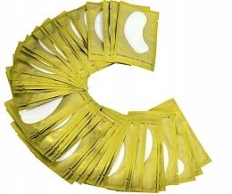 Парфюмерия и Козметика Хидрогелни пачове за поставяне на мигли, златни - Lewer Lint Free Under Eye Gel Patches For Eyelash Extensons