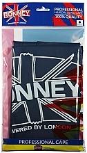 Парфюмерия и Козметика Фризьорска престилка в тъмно-син цвят , водоустойчива - Ronney Professional Waterproof Hairdressing Cape