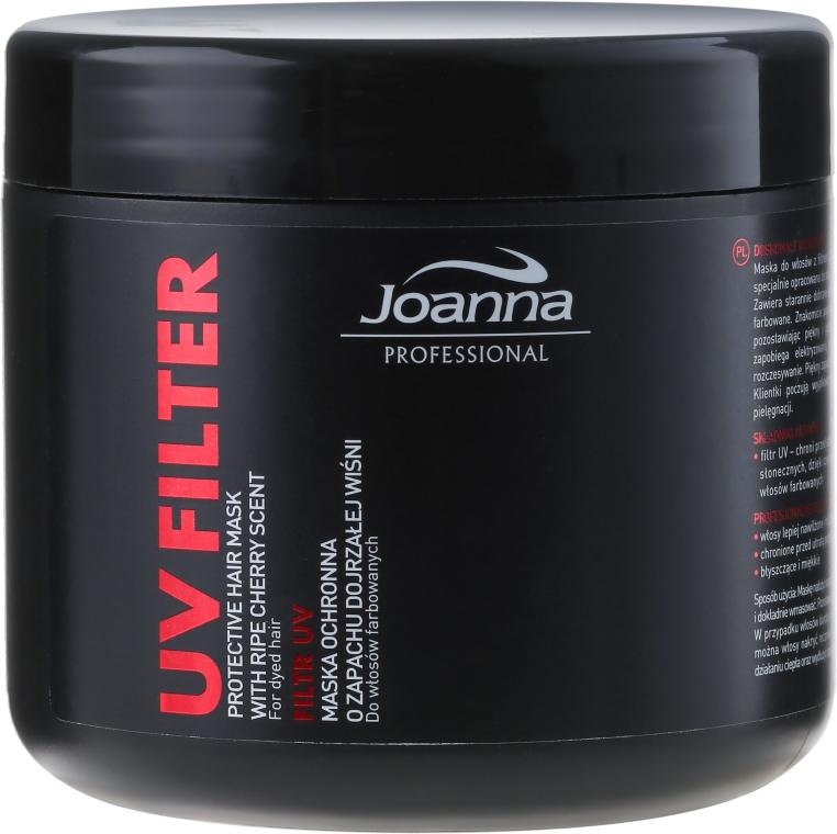 Маска с UV-филтър за боядисана коса с аромат на череша - Joanna Professional Protective Hair Mask UV Filter