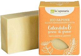 Парфюмерия и Козметика Био сапун с екстракт от невен и масло от пшеничен зародиш - La Saponaria Calendula & Wheat Germ Soap