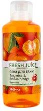 Парфюмерия и Козметика Пяна за вана с аромат на манадарина и сицилиански портокал - Fresh Juice Tangerine and Sicilian