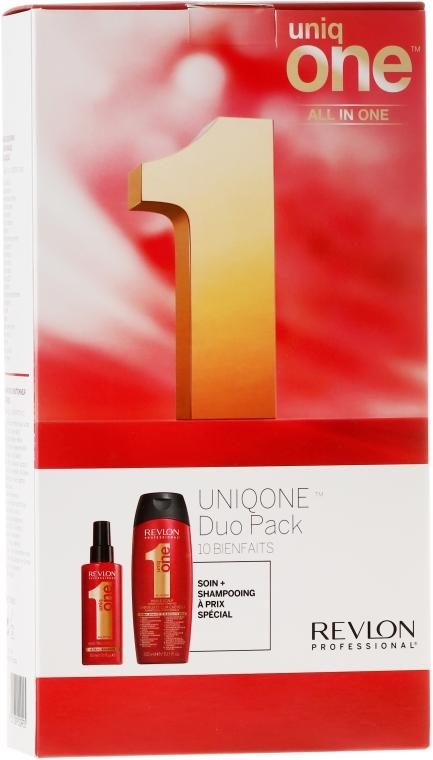 Комплект за коса - Revlon Professional Uniq One Uniqone Duo Pack (спрей/150ml + шампоан-балсам/300ml)