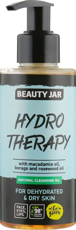 """Почистващо масло за дехидратирана кожа """"Hydro Therapy"""" - Beauty Jar Natural Cleansing Oil"""