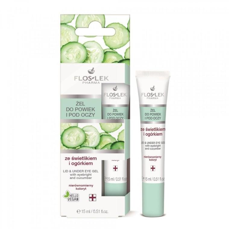 Околоочен гел с очанка и краставица - Floslek Lid And Under Eye Gel With Eyebright & Cucumber