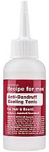 Парфюмерия и Козметика Охлаждащ тоник против пърхот за мъже - Recipe For Men Anti-Dandruff Cooling Tonic