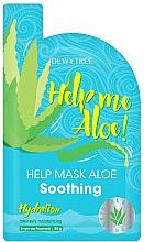 Парфюмерия и Козметика Хидратираща маска за лице с алое вера - Dewytree Help Me Aloe! Soothing Mask