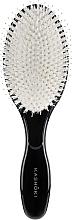 Парфюмерия и Козметика Четка за коса с естествен косъм, овална - Kashoki Smooth White Detangler XL