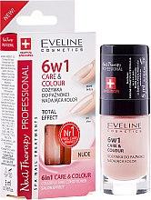 Парфюми, Парфюмерия, козметика Укрепващ лак за нокти 6в1 - Eveline Cosmetics Nail Therapy Professional