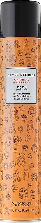 Лак за коса със силна фиксация - Alfaparf Milano Style Stories Original Hairspray — снимка N1