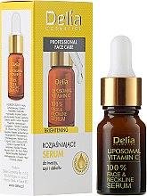 Парфюмерия и Козметика Изсветляващ серум за лице, шия и деколте - Delia Liposomal Vitamin C 100% Face Neckline Serum Anti Wrinkle Treatment