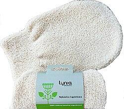 Парфюмерия и Козметика Ръкавица за баня, бяла - Lynia