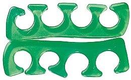 Парфюмерия и Козметика Разделител за пръсти, зелен - Peggy Sage