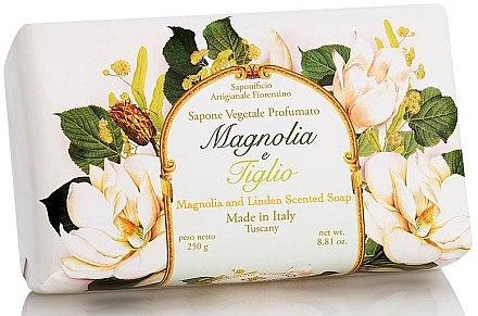 """Натурален сапун """"Магнолия и Липа"""" - Saponificio Artigianale Fiorentino Magnolia&Linden Soap"""
