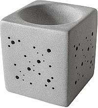 Парфюмерия и Козметика Арома лампа, квадратна, сива - Flagolie By Paese Cube Fireplace Grey